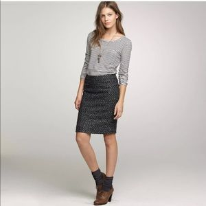 J Crew Miss Tweed Wool Woven Pencil Skirt 💕